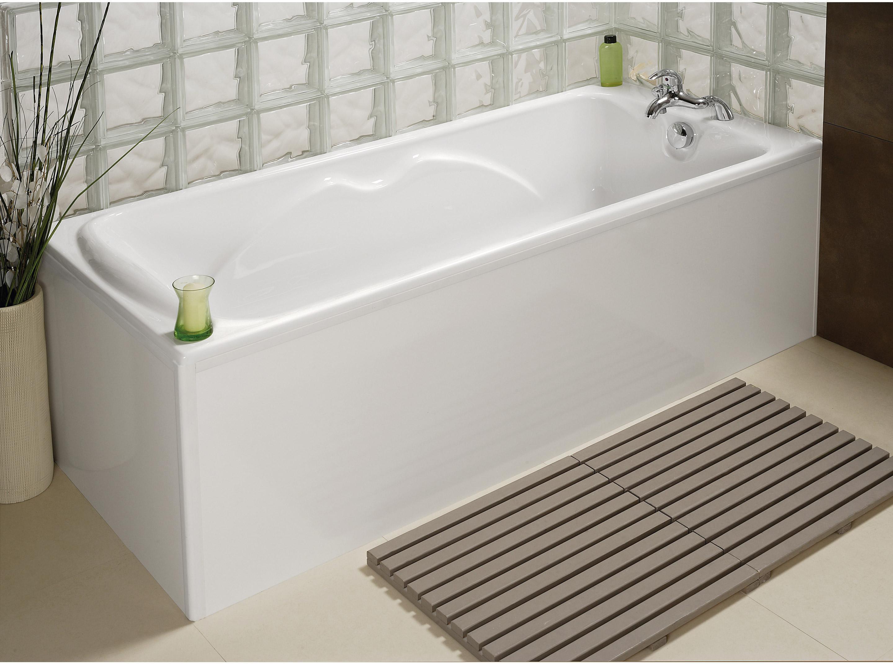 Tablier de baignoire Tablier de baignoire clip's L.75.5 x l.54 cm blanc, ALLIBER