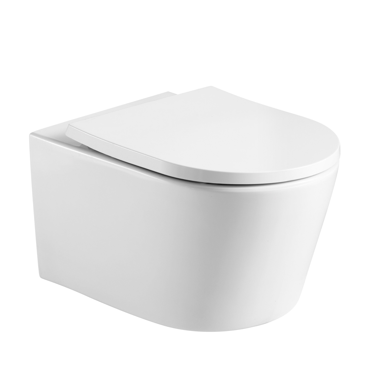 Cuvette pour WC suspendu sortie horizontale, sans bride, SENSEA Néo