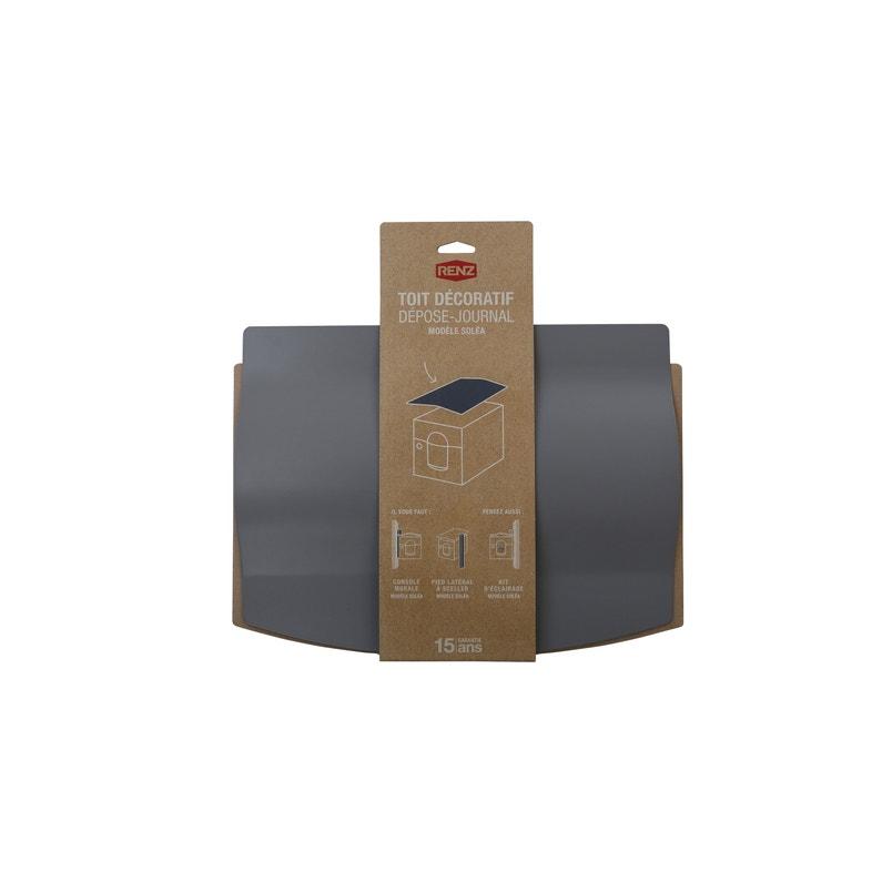 Toit Décoratif Pour Boîte Aux Lettres H425 X L32 X P5 Cm Renz Gris