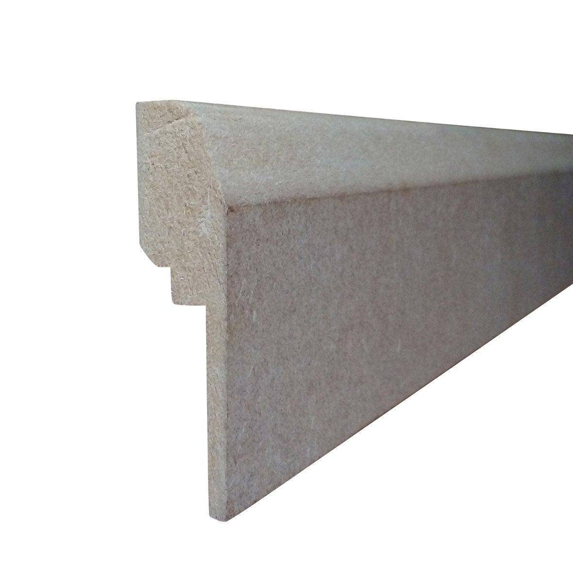 Goulotte Pour Plafond plinthe plaqué chêne réno pour goulotte electrique, h.20 x l.2.44 m x ep.70  mm