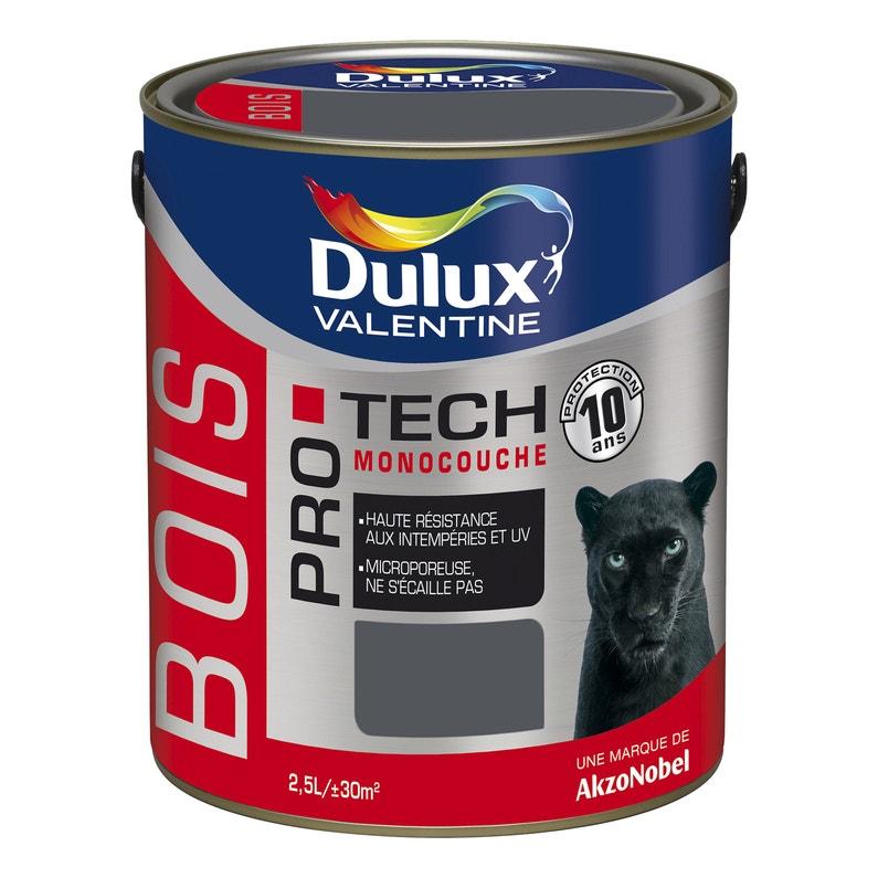 Peinture Bois Extérieur Pro Tech Dulux Valentine Gris Foncé 2 5 L