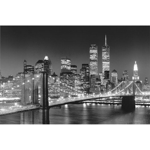 poster brooklyn bridge x cm leroy merlin. Black Bedroom Furniture Sets. Home Design Ideas