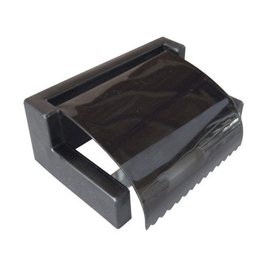 d rouleur papier wc sweet noir leroy merlin. Black Bedroom Furniture Sets. Home Design Ideas