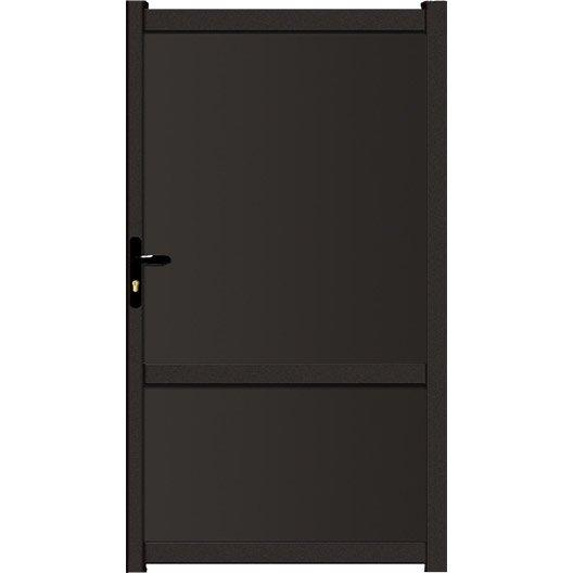 portillon battant en aluminium brevine x cm leroy merlin. Black Bedroom Furniture Sets. Home Design Ideas