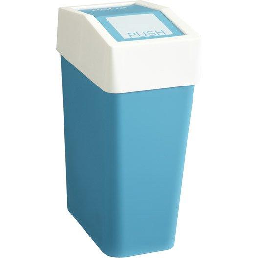 Poubelle de salle de bains 10l fizz bleu leroy merlin for Poubelle de salle de bain bleu
