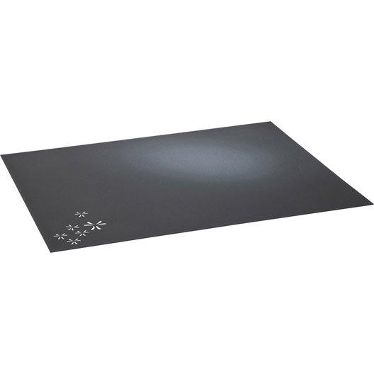 plaque de protection sol acier laqu poxy equation p tale noir sabl l80xh100cm leroy merlin. Black Bedroom Furniture Sets. Home Design Ideas