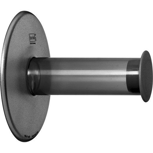 d rouleur de papier toilette sans couvercle play gris galet n 3 leroy merlin. Black Bedroom Furniture Sets. Home Design Ideas