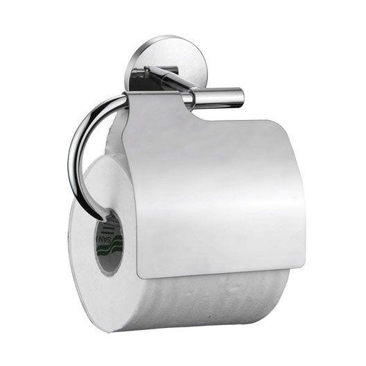 D rouleur papier toilette avec couvercle suite chrom leroy merlin - Leroy merlin toilette ...