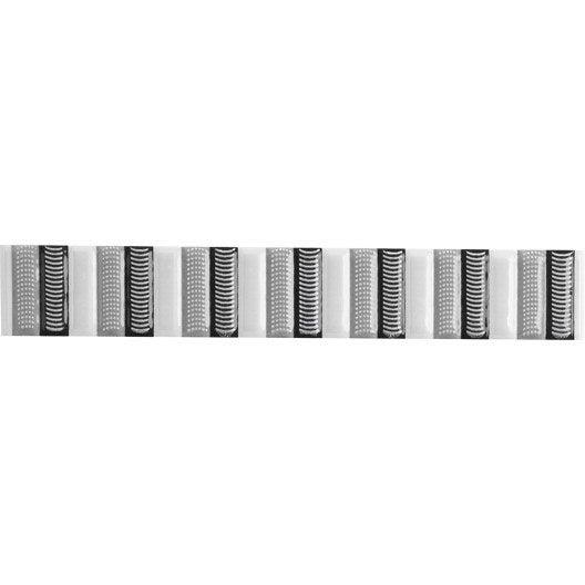 Lot de 3 listels kino noir et gris l 4 8 x cm - Listel carrelage leroy merlin ...