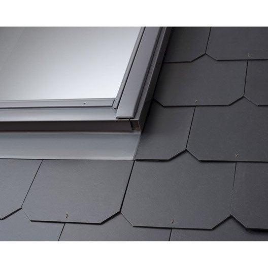 Raccord pour fen tre de toit velux edl uk08 gris leroy for Installer fenetre de toit