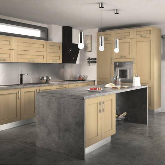 meuble de cuisine ingenious composition type cyclone leroy merlin. Black Bedroom Furniture Sets. Home Design Ideas