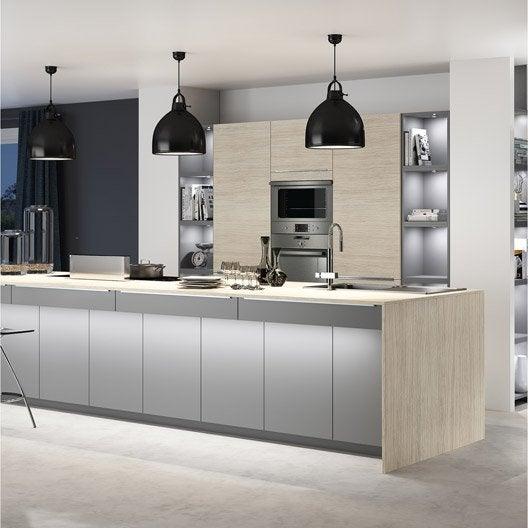 Meuble de cuisine ingenious composition type aliz leroy merlin - Facade de cuisine leroy merlin ...