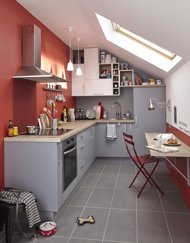 Une cuisine astucieuse pour les petites surfaces   Leroy Merlin