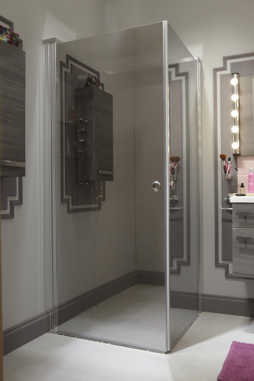 Une douche l 39 italienne au style vintage industriel leroy merlin - Salle de bain a l italienne photo ...