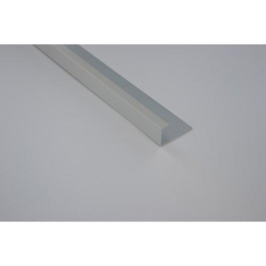 profil de finition aluminium 24 x 45 scover plus gris l 2. Black Bedroom Furniture Sets. Home Design Ideas