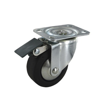 roulette pivotante platine diam65 mm - Roulette Pour Table Basse