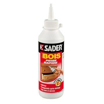 Colle à bois rapide Spéciale matériaux SADER, 250g