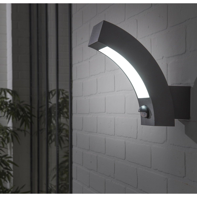 Applique à Détection Extérieure Kendal LED Integrada 5.5 W U003d 450 Lm, Gris  INSPIR