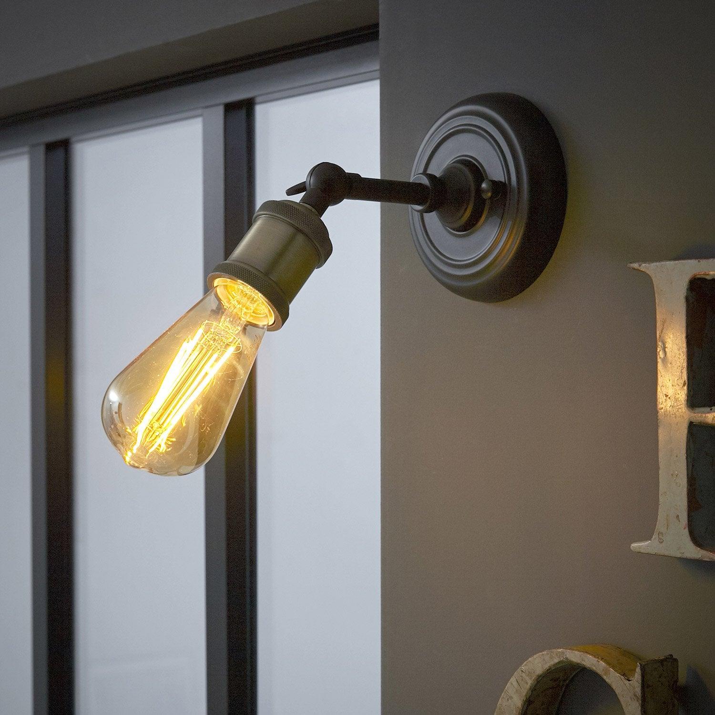 Applique métal noir INSPIRE Braccio 1 lumière(s)