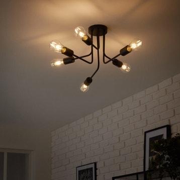 plafonnier led plafonnier design industriel au meilleur prix leroy merlin. Black Bedroom Furniture Sets. Home Design Ideas