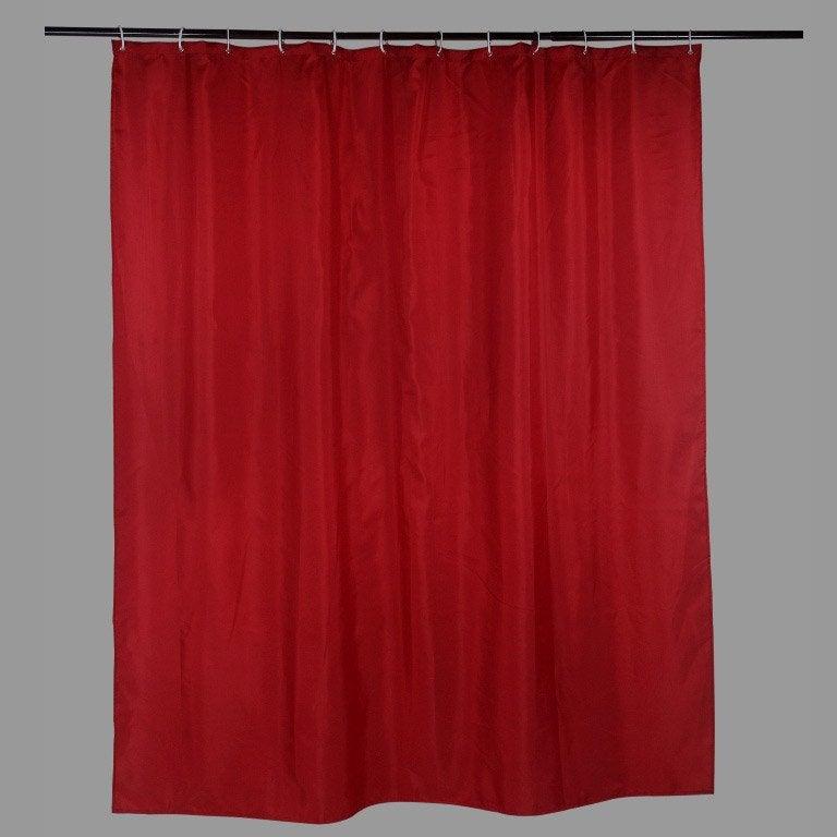 Rideau de douche en textile rouge l.180 x H.200 cm, Happy SENSEA