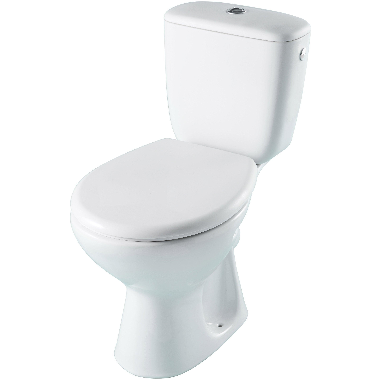 Pack WC à poser sortie horizontale, ouvert, SENSEA Essential