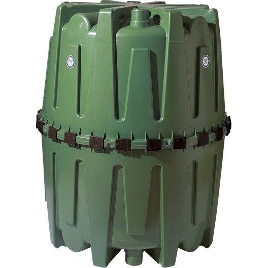 cuve de récupération d'eau de pluie et maintien 320001 vert 1600 l