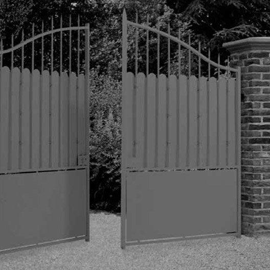 Portail battant excalibur x couleur a for Peindre un portail en fer