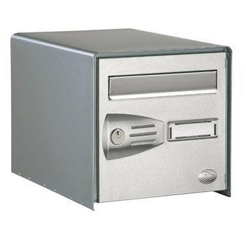 Boîte aux lettres 1 porte DECAYEUX Littoral, acier gris