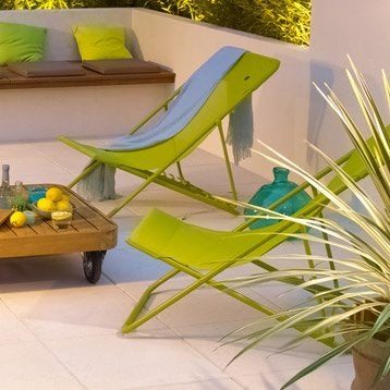 Hamac transat et bain de soleil salon de jardin table for Transat de jardin design