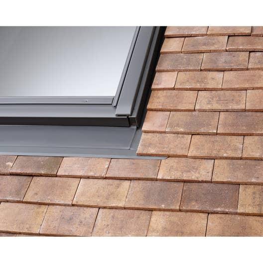 raccord pour fen tre de toit velux edp sk06 gris leroy merlin. Black Bedroom Furniture Sets. Home Design Ideas