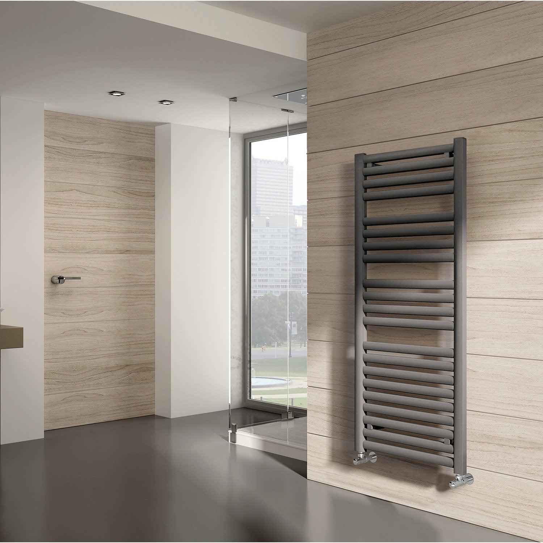 s che serviettes eau chaude acier equation concept gris 649 w leroy merlin. Black Bedroom Furniture Sets. Home Design Ideas