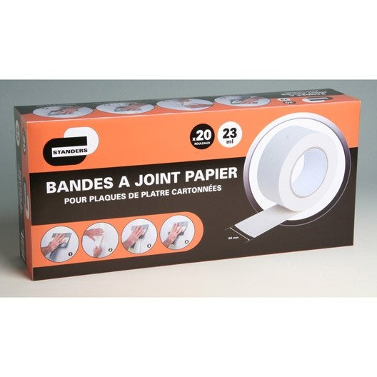 Bande joint papier standers 23 ml leroy merlin for Bande a joint papier