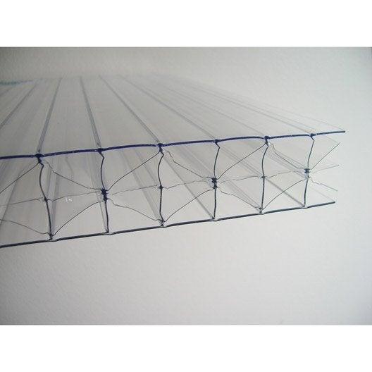 Plaque polycarbonate alv olaire 32mm clair 3 x for Plaque polycarbonate alveolaire couleur