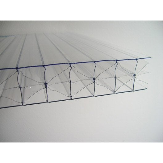 plaque polycarbonate alv olaire 32mm clair 3 x sunclear leroy merlin. Black Bedroom Furniture Sets. Home Design Ideas