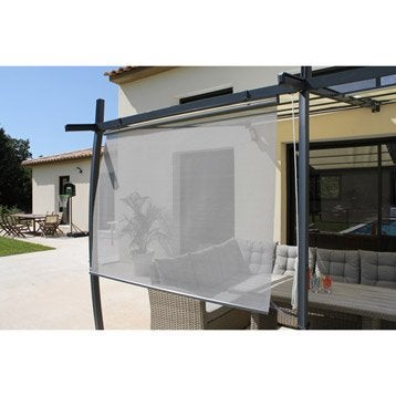 Rideau textilène Brise soleil gris l.170 x L.160 cm