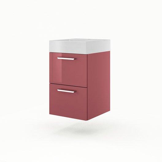 meuble vasque 45 cm rouge neo line leroy merlin. Black Bedroom Furniture Sets. Home Design Ideas