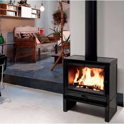 po le bois supra ceres 8 kw leroy merlin. Black Bedroom Furniture Sets. Home Design Ideas