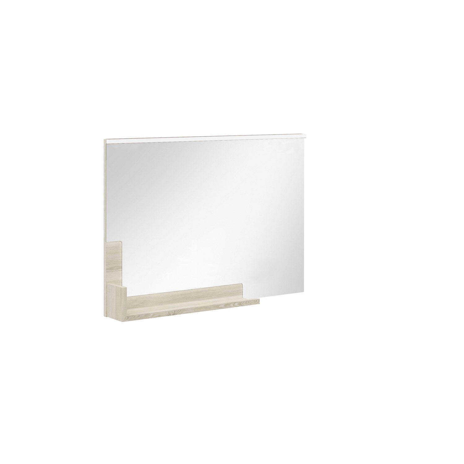 Miroir avec tablette cm eden leroy merlin for Miroir tablette