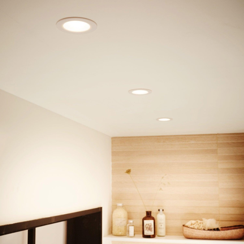 Kit 3 Spots à Encastrer Salle De Bains Rovigo Fixe Led LED Intégrée Blanc  ...