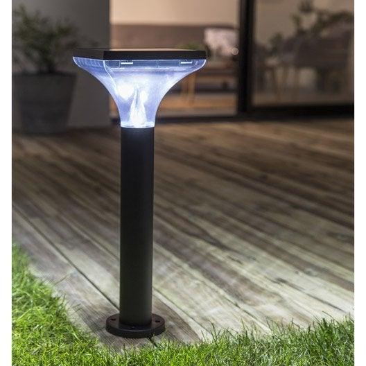 Borne solaire ibiza 200 lm noir inspire leroy merlin for Borne eclairage exterieur solaire