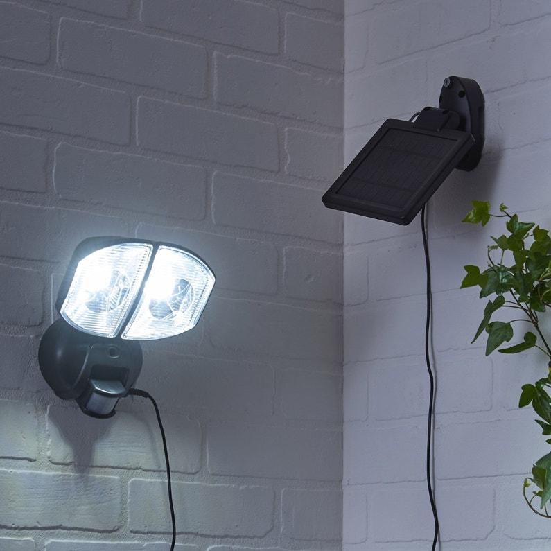 Projecteur à Détection Solaire Kino 200 Lm Noir Inspire Leroy Merlin