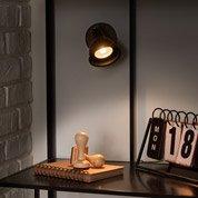 rampe 4 spots industriel rusto 4 xgu10 marron inspire leroy merlin. Black Bedroom Furniture Sets. Home Design Ideas