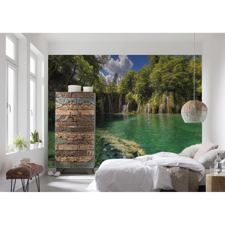 Photo murale Edenfalls vert papier KOMAR l.368 x H.254 cm