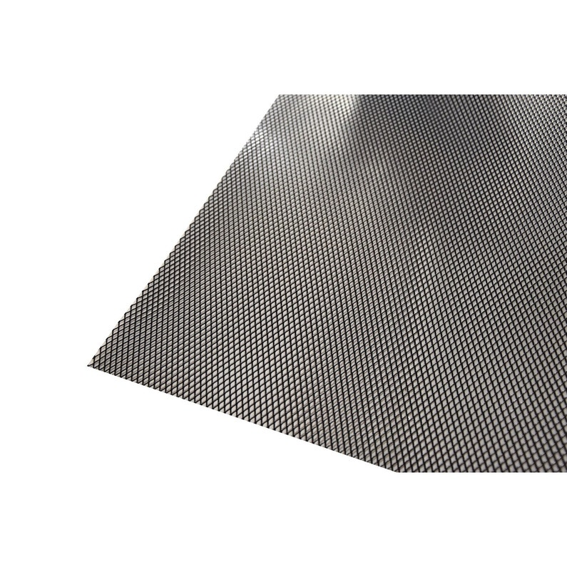 Tôle Aluminium Métal Déployé époxy Noir L100 X L200 Cm Ep16 Mm