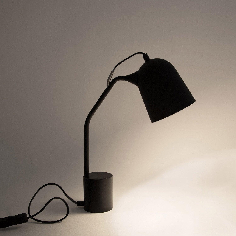 Lampe de bureau, e14 à poser noir Magnétic
