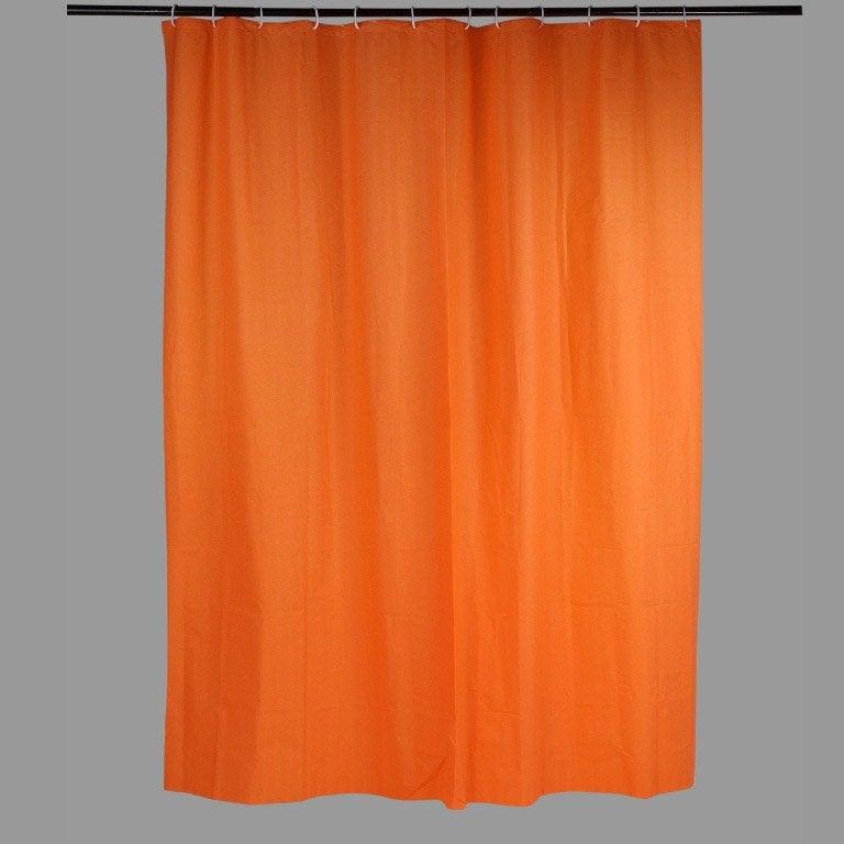 Rideau De Douche En Plastique Orange L 180 X H 200 Cm Joy Sensea