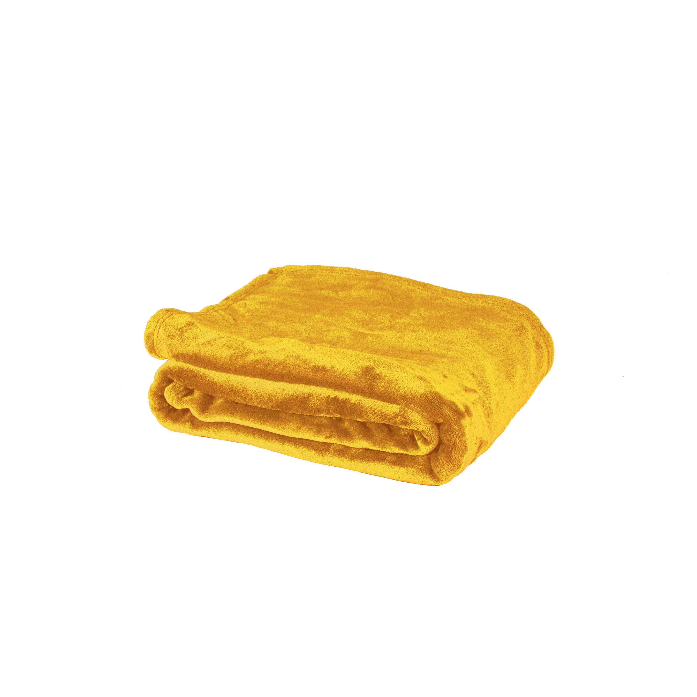 Plaid Bigsweety, jaune l.130 x L.170 cm
