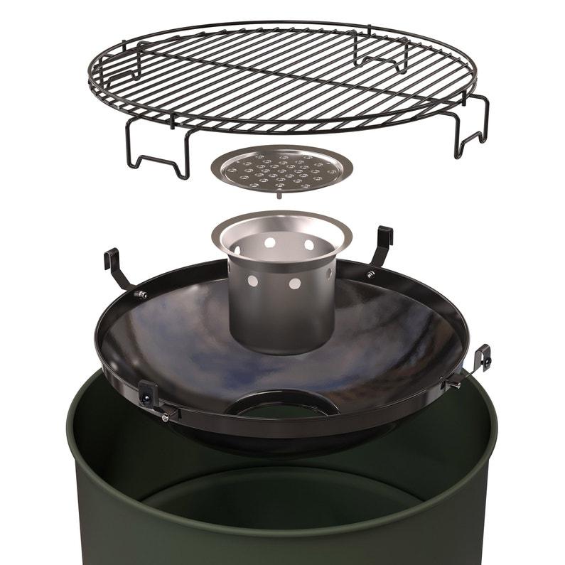 Barbecue Au Charbon De Bois Barbecook Edson Army Vert