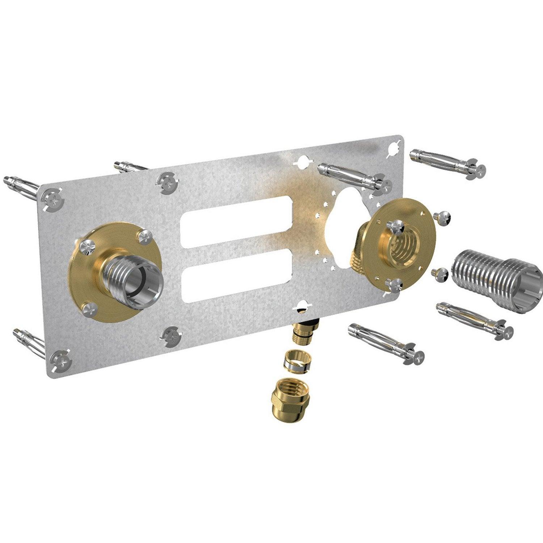 kit fixation baignoire Kit du0027installation femelle à compression pour tube per, Diam.16 mm 15 x 21  mm
